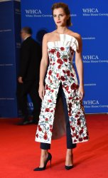 Actress Emma Watson arrives at the White House Correspondents' Association Dinner
