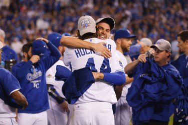 Royals celebrate after winning the ALCS