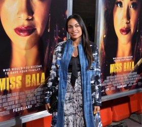 "Rosario Dawson attends the ""Miss Bala"" premiere in Los Angeles"