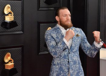 Conor McGregor arrives for the 62nd annual Grammy Awards in Los Angeles