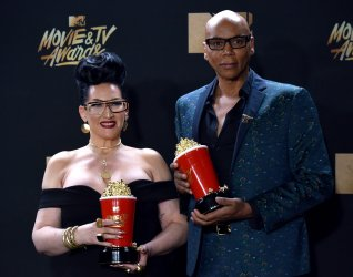 Michelle Visage and RuPaul win awards at the 2017 MTV Movie & TV Awards in Los Angeles