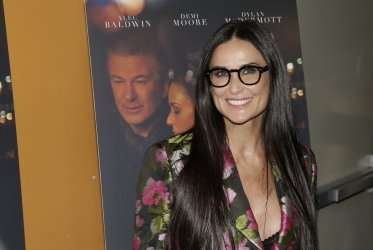 Demi Moore arrives at the 'Blind' premiere in New York
