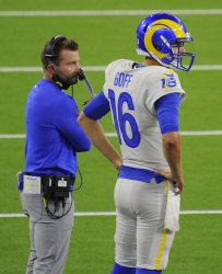 Rams Jared Goff And Sean McVay have a talk