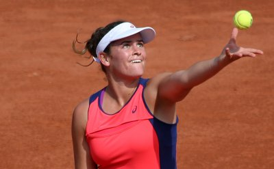 Jennifer Brady plays her first round match at the French Open
