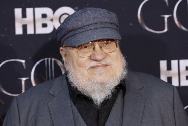George R.R. Martin at the Season 8 premiere of Game of Thrones