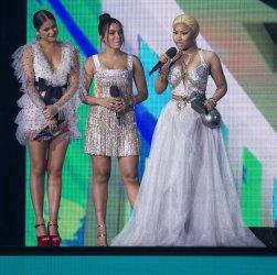 Sofia Reyes, Anitta and Nicki Minaj perform at the MTV Europe Music Awards in Bilbao
