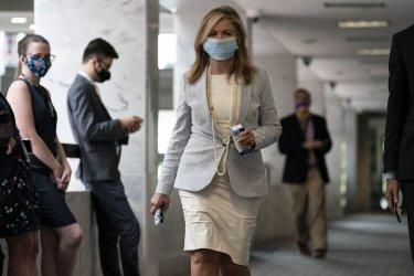 Senators on Capitol Hill During Coronavirus Stimulus Negotiatons