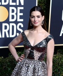 Anne Hathaway attends Golden Globe Awards