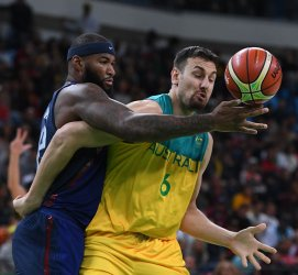 USA' s DeMarcus Cousins in Basketball at 2016 Rio Summer Olympics