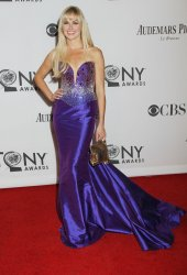 Laura Bell Bundy arrives for the 2012 Tony Awards in New York