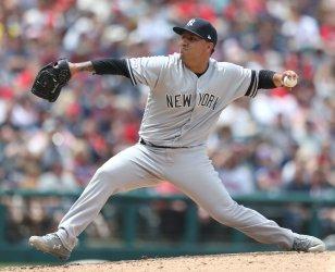 Yankees Cortez Jr. pitches against Indians