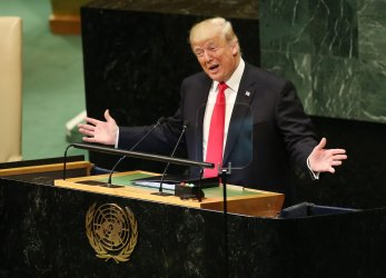 USA President Donald Trump speaks at the 73rd General Debate at the UN