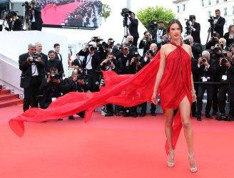 Alessandra Ambrosio attends the Cannes Film Festival