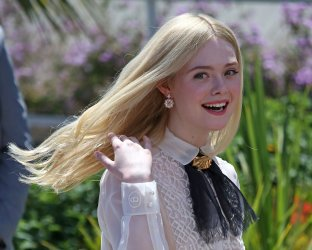 Elle Fanning attends the Cannes Film Festival