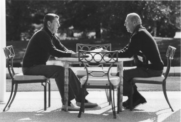 President Reagan Meets with Secretary of State Shultz