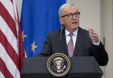 President Trump and President of the European Commission Jean-Claude Juncker make a statement on Trade at the White House