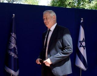 Benny Gantz Arrives At The President's Residence In Jerusalem