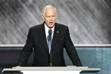 Sen. Ron Johnson speaking at the Republican National Convention in Cleveland