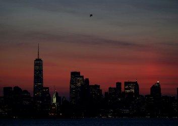 Pre Dawn Manhattan Skyline in New York City