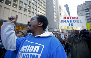 Demonstrators Protest Police Shooting in Chicago