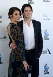 Nikki Reed and Ian Somerhalder attend the 31st annual Film Independent Spirit Awards in Santa Monica, California