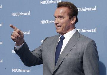 Arnold Schwarzenegger at NBCUNIVERSAL Upfront