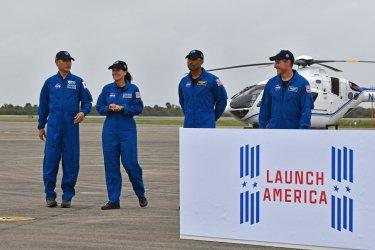NASA Crew 1 Arrives at KSC