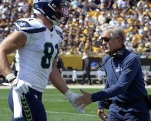 Seattle Seahawks Head Coach Pete Carroll in Pittsburgh