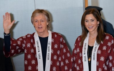 Paul McCartney arrives at Tokyo