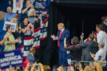 President Trump Enters His Campaign Rally in Tulsa