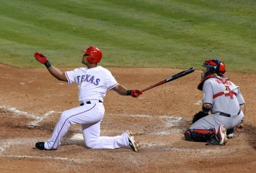 Texas Rangers Adrian Beltre homers in game 5 of the World Series in Texas
