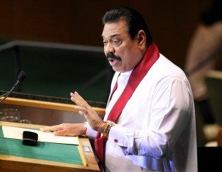 Sri Lanka's President Rajapaksa speaks at General Assembly at United Nations