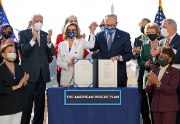 The House Passes The American Rescue Plan Relief Bill in Washington, DC