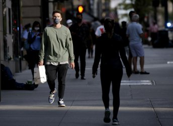 Pedestrians Wearing Face Masks in New York