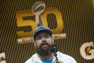 Ryan Kalil at Super Bowl 50 Media Day