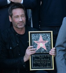 David Duchovny gets a star on the Hollywood Walk of Fame in Los Angeles