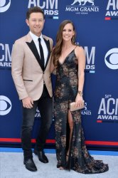 Scotty McCreery and Gabi McCreery attend the Academy of Country Music Awards in Las Vegas