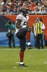 Bears Danny Trevathan reacts against Vikings in Chicago