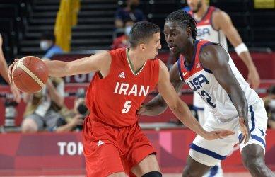 USA vs Iran Men's Basketball at the Tokyo Olympics