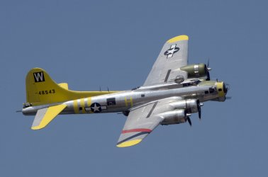 World War II B-17 performs at the Valiant Air Command 2013 Air Show.