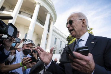 President Biden Departs White House for Weekend at Camp David
