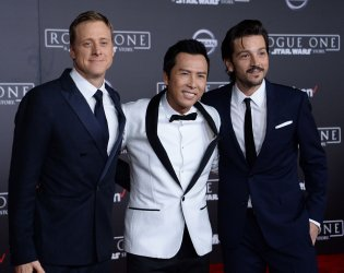 """Alan Tudyk, Donnie Yen and Diego Luna  attend the """"Rogue One: A Star Wars Story"""" premiere in Los Angeles"""