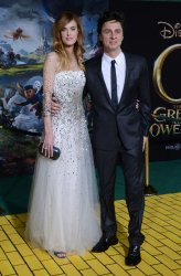 "Zach Braff  and Taylor Bagley attend ""Oz The Great and Powerful"" premiere in Los Angeles"
