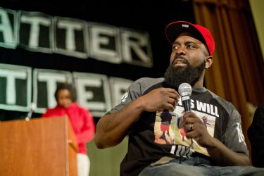 Michael Brown Sr. Speaks at Mission High School in San Francisco