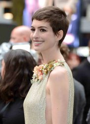 "Anne Hathaway attends the European premiere of ""The Dark Knight Rises"" in London"