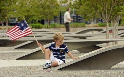 Visitors pay respects at 9/11 memorial at Pentagon in Virginia