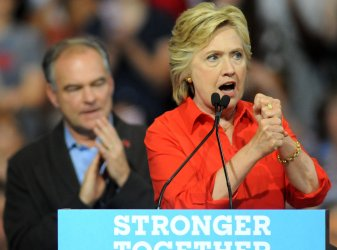 Democratic Candidate Hillary Clinton Bus Tour Stops  in Pittsburgh