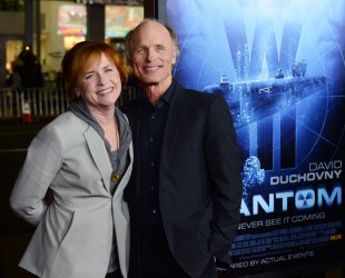"Ed Harris and KAmy Madigan attend the ""Phantom"" premiere in Los Angeles"