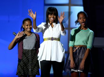 First lady Michelle Obama honors military families at Kids' Inaugural in Washington