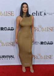 "Kim Kardashian West attends ""The Promise"" premiere in Los Angeles"